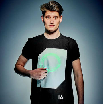 Adults Interactive Glow T-shirt | Black