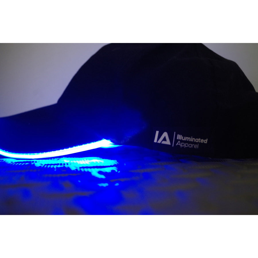 baseball light up LED glow blue cap