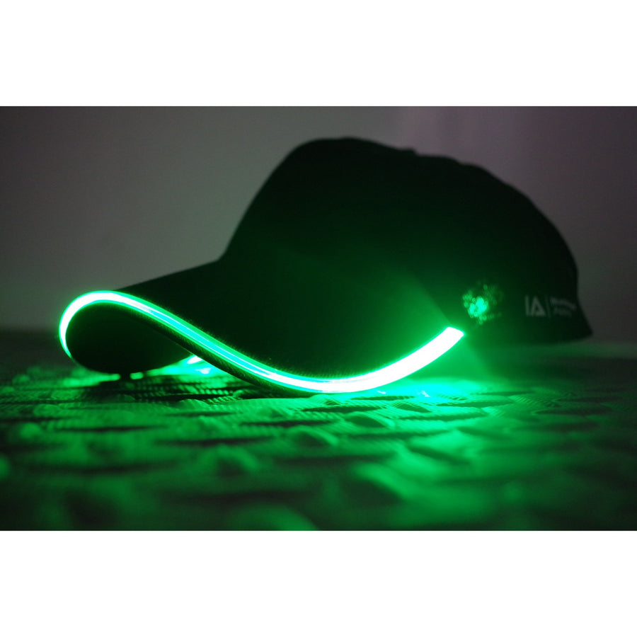 baseball light up LED glow green cap
