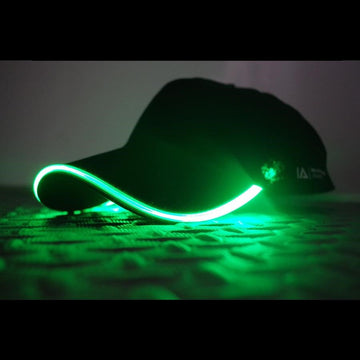 baseball light up LED glow green cap hat