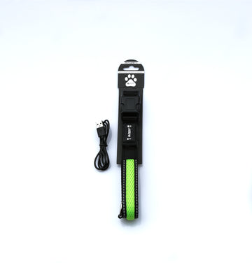 GREEN LIGHT UP PET COLLAR