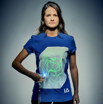 Adults Interactive Glow T-shirt | Blue & White