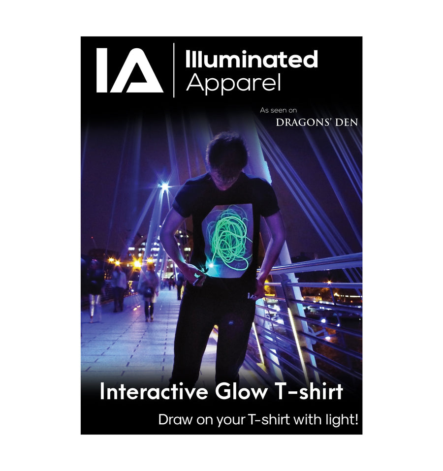 Adults Interactive Glow T-shirt | White