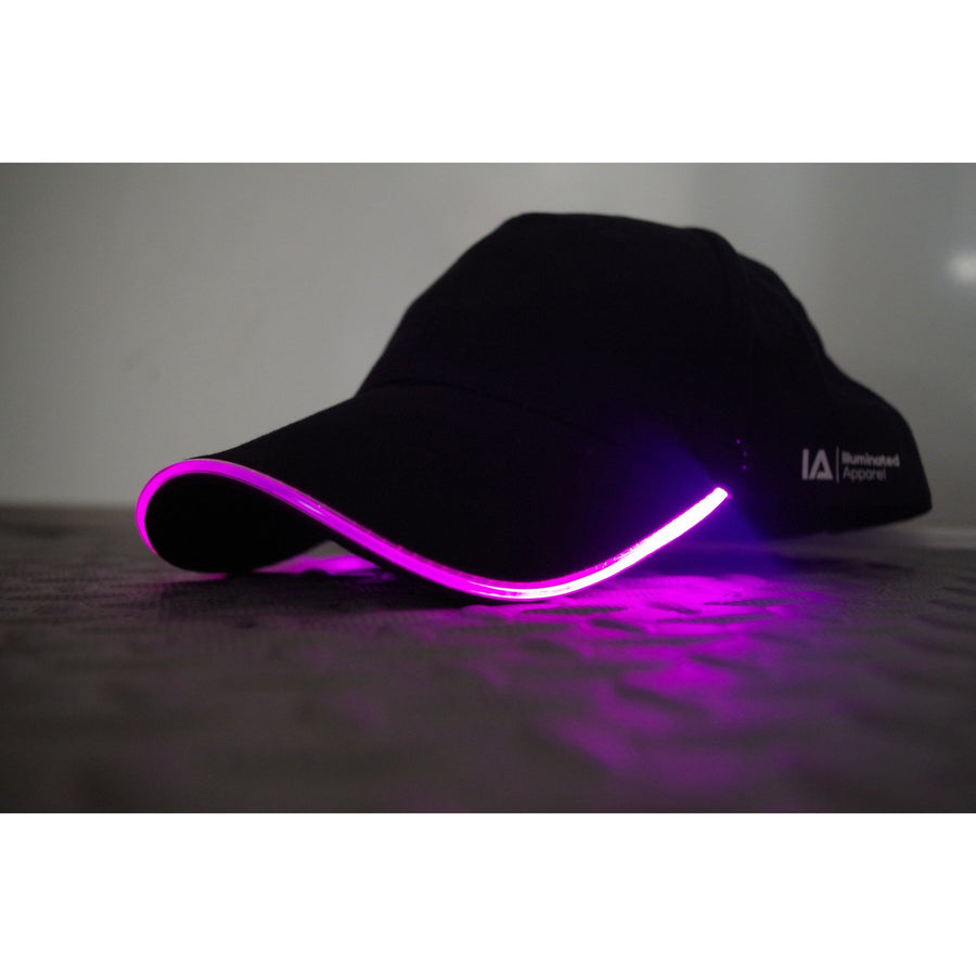 baseball light up LED glow purple cap