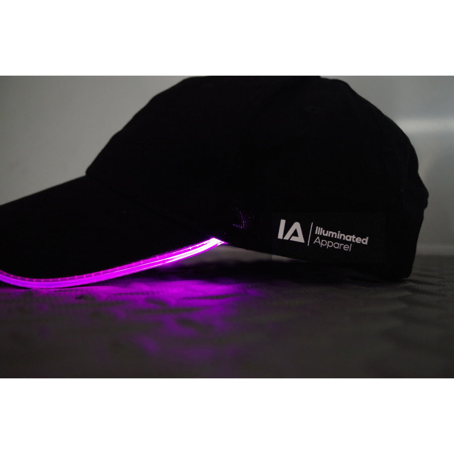 baseball light up LED glow purple cap hat