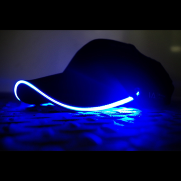 baseball light up LED glow blue cap hat