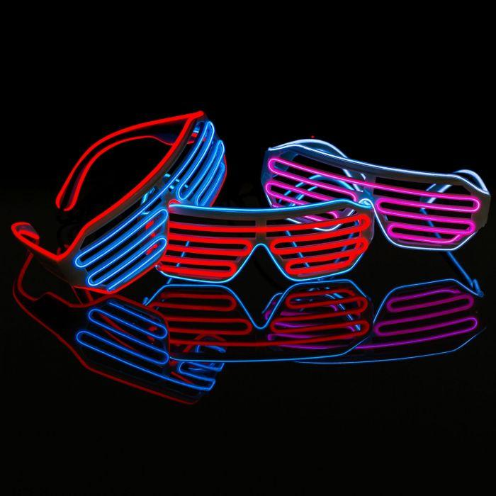 Red & Blue LED Light Up Glasses