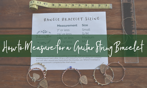 Pick Your Guitar String Bracelet Size: How to Measure