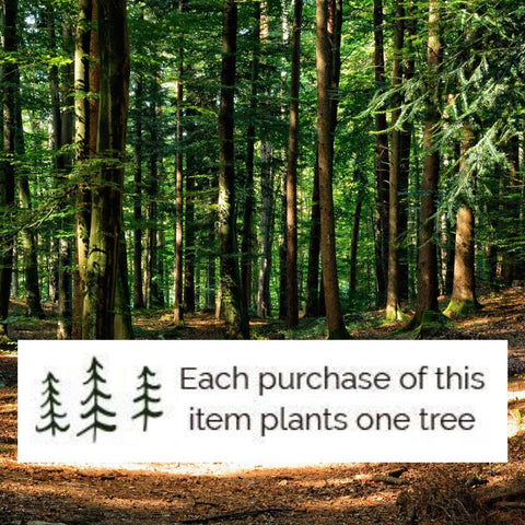 each purchase of Delirious Blue Jewelry plants a tree
