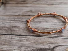 Light Blue and Copper Guitar String Bracelet