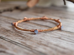 guitar string bracelet copper and blue