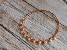 Copper and Pearl Guitar String Bracelet