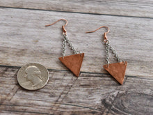 Hammered Copper Triangle Earrings