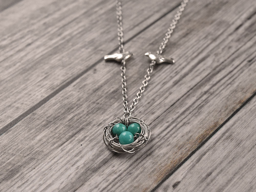 Jade Bird Nest Necklace