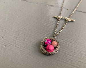 Special Easter Edition: Pink Bird Nest Necklace