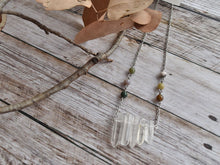 Raw Quartz and Natural Stone Beads Necklace