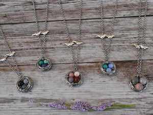 Custom Bird Nest Necklace