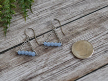 Beaded Bar Earrings - Light Blue