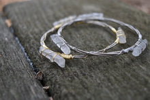 Quartz Guitar String Bracelet - Silver on Silver
