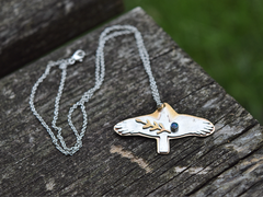 Bird Necklace from the Kris Collection of Delirious Blue Jewelry