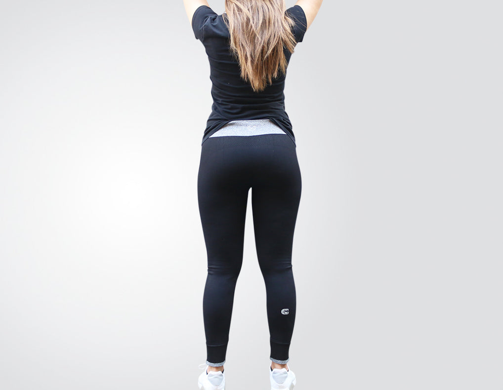 "GG ""Sweat it like no other""Super-Flex Black Athletic Leggings"