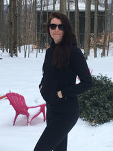 GG women's black hoodie. A combination of comfort and style. Light weight