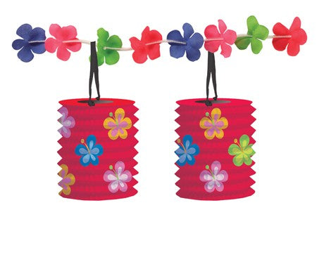 Let's Hula! Flowers Lantern Garland with Attachments (Each)