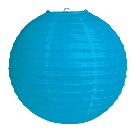"Bright Blue 12"" Round Solid Lantern (Each)"