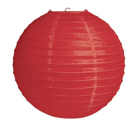 "12"" Red Round Solid Lantern (Each)"