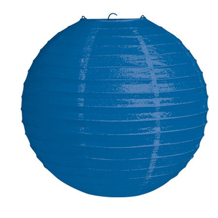 "Blue 12"" Round Solid Lantern (Each)"