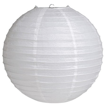 "White 12"" Round Solid Lantern (Each)"