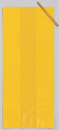 Yellow Solid Cello Bag  (Pack of 20)
