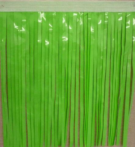"'Light Green Vinyl Fringe 14"" x 10'' (VV)'"