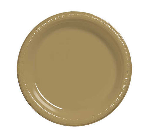 "7"" Glitter Gold Plate  (Pack of 20)"