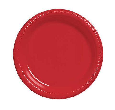 "9"" Classic Red Plate  (Pack of 20)"