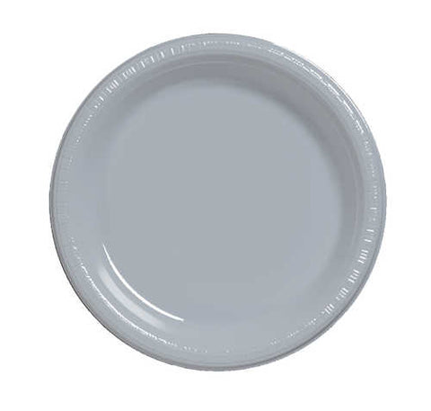 "9"" Plate Shimmering Silver (20 Count)"