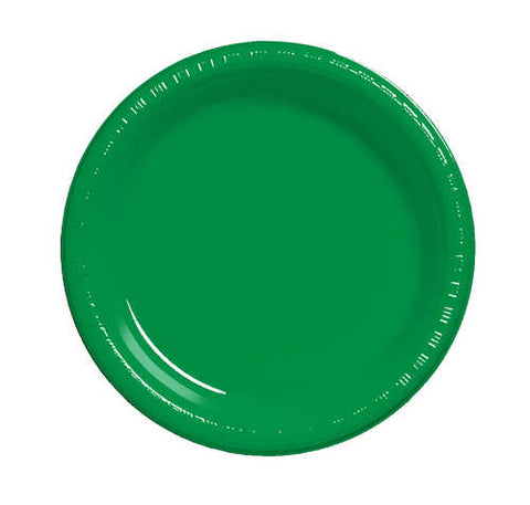 "7"" Plate Emerald Green (20 Count)"
