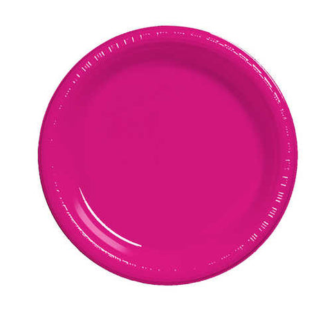 "7"" Hot Magenta Plate (Pack of 20)"