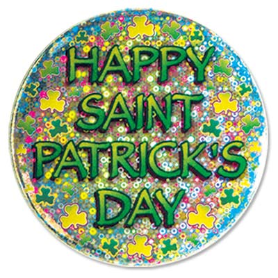 Happy St. Patrick's Day Button (Each)