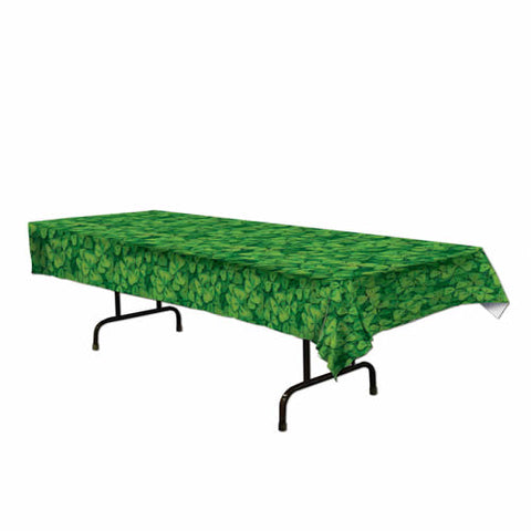"Shamrock Tablecover 54"" x 108"" Plastic (Each)"