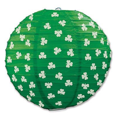 "Shamrock Paper Lanterns 9"" - 3 Count (Each)"