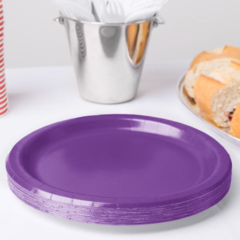 "Purple Plate 9"" (Pack of 24)"