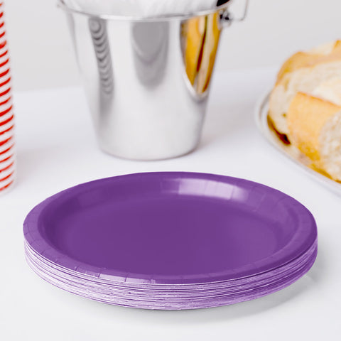 "Purple Plate 7"" (Pack of 24)"