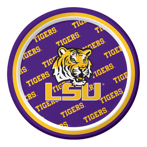 "6.75"" LSU Luncheon Plate (Pack of 8)"