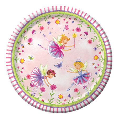 "7"" Lunch Plates Garden Fairy (8 Per Pack)"