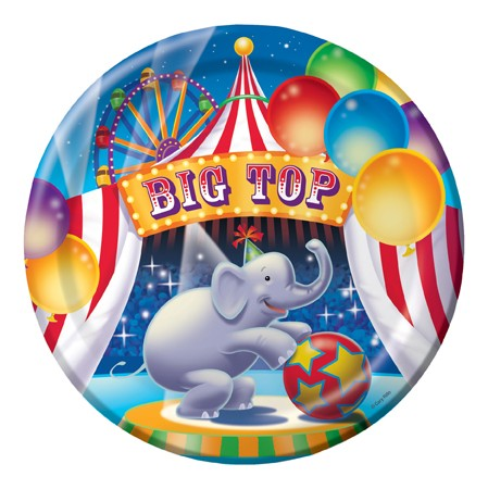 "9"" Dinner Plate - Big Top Birthday (Pack of 8)"