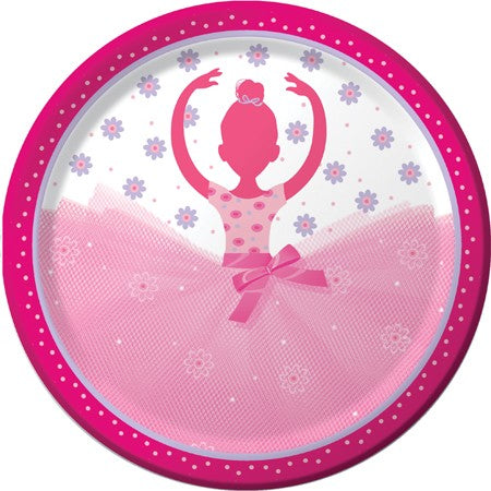 "Tutu Much Fun 9"" Dinner Plate (Pack of 8)"