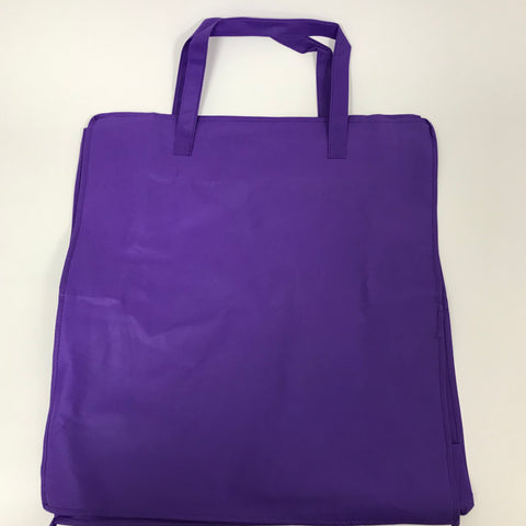 "Purple Woven Zipper Bag 18"" x 20"" (Each)"