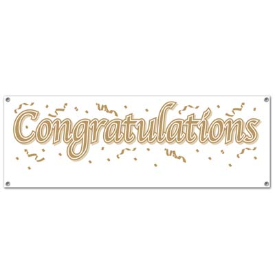 "'Congratulations ""Blank"" Sign Banner 5'' x 21"" (Each)'"