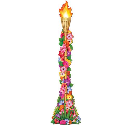 Jointed Floral Tiki Torch 4' (Each)